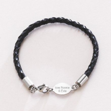 Engraved Memorial Bracelet for Man or Boy